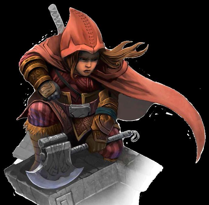 Female Dwarf Rogue - Pathfinder PFRPG DND D&D d20 fantasy
