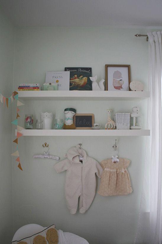 A Light And Dreamy Gender Neutral Nursery Baby Room Shelves Gender Neutral Nursery Nursery Neutral