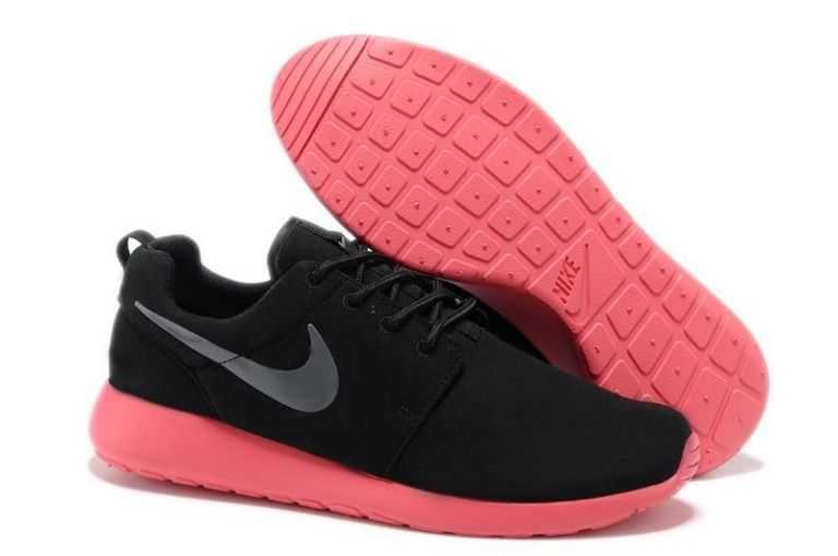 Sunshine Nike Roshe Run Mens Coal Black Red Silver