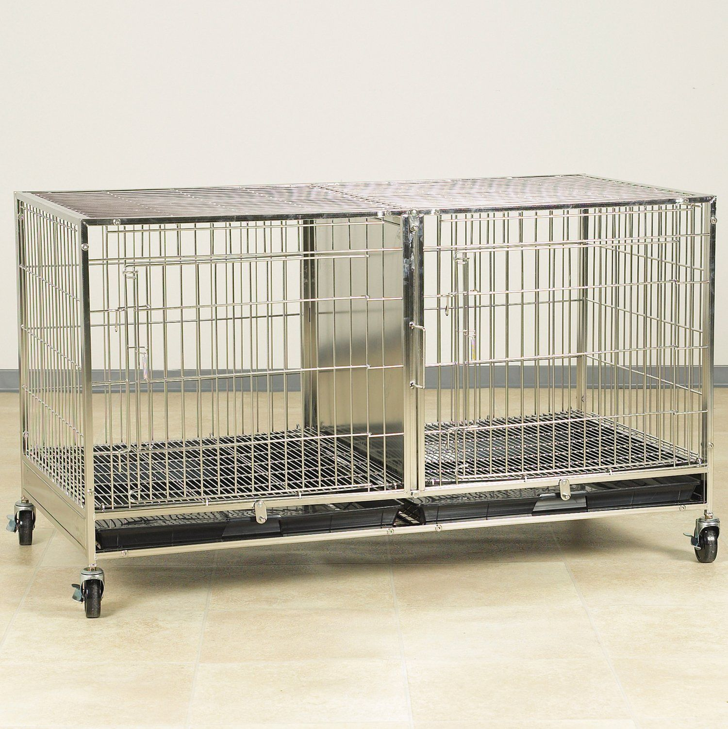 Proselect Stainless Steel Modular Cage With Plastic Tray Check Out The Image By Visiting The Link This Is An Affiliate Link Dog Door Plastic Trays Pet Cage