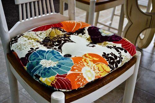 DIY: Recover A Kitchen Chair Cushion!