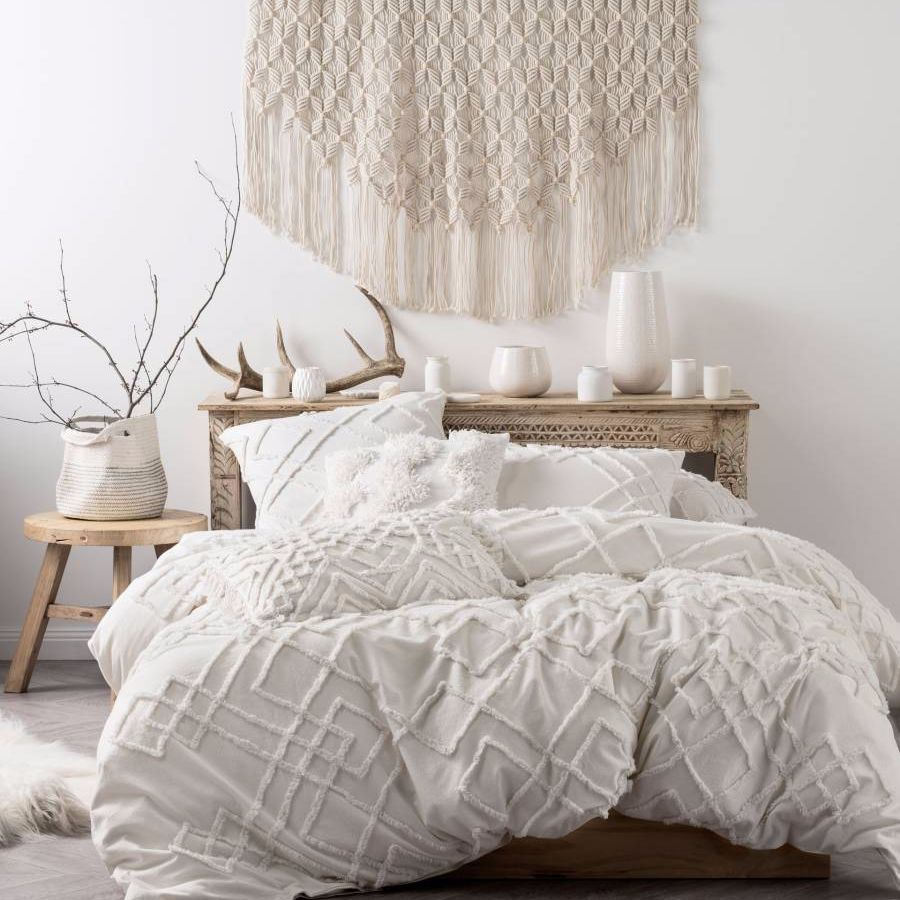 Details about BRAND NEW Linen House Sanura White Duvet