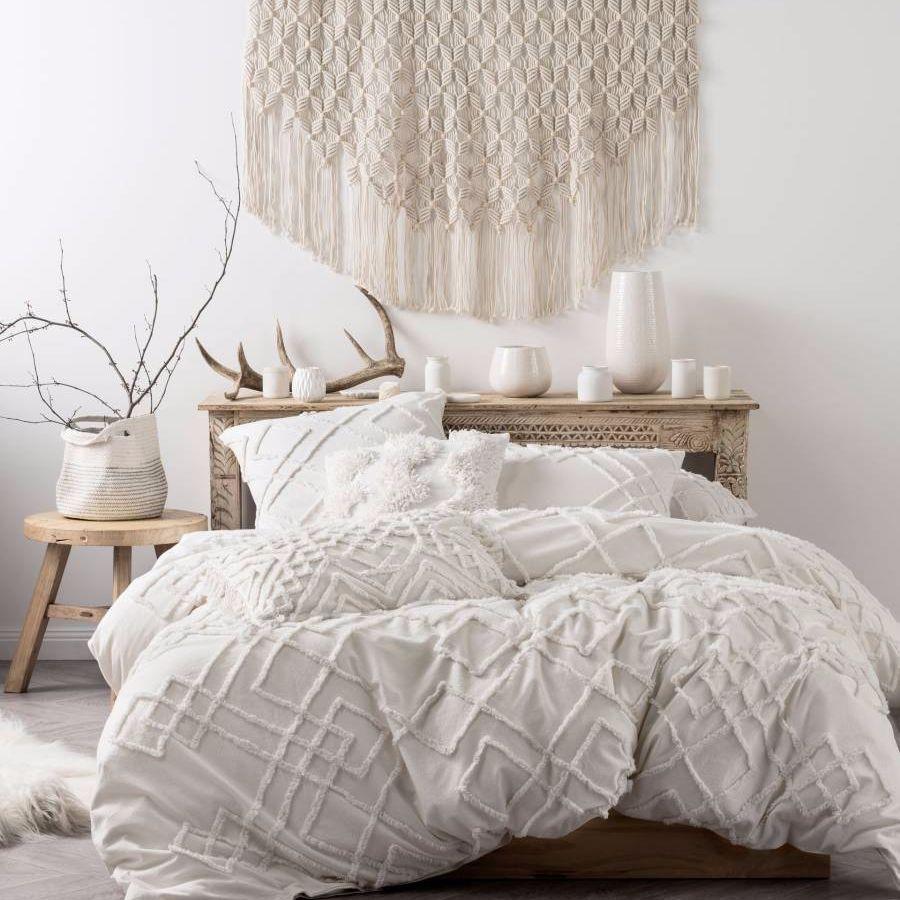 brand new linen house sanura white duvet doona quilt cover set cotton home u0026 garden