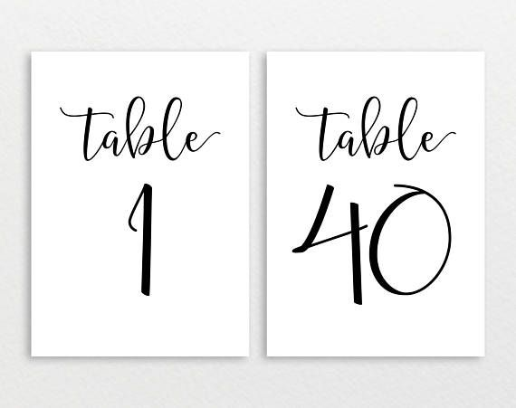 table numbers printable rustic wedding table numbers table number