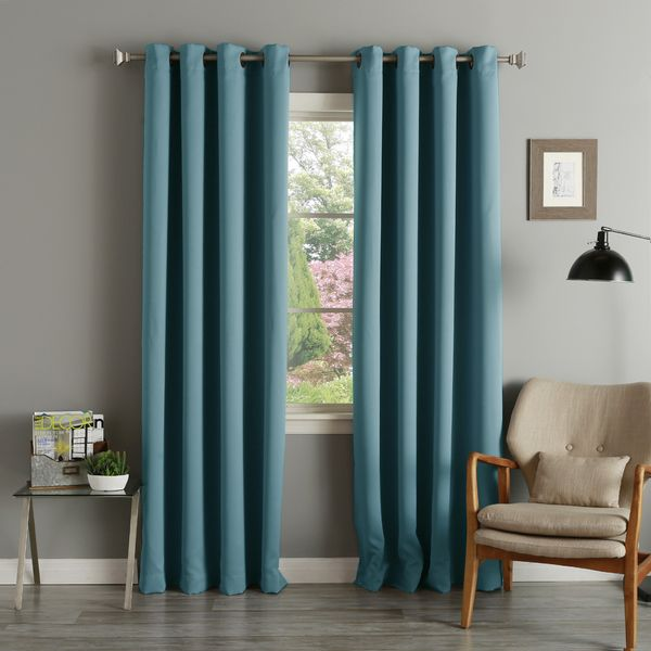 Nice Lights Out Teal Grommet Top Thermal Insulated Blackout Curtain Panel Pair    Overstock™ Shopping