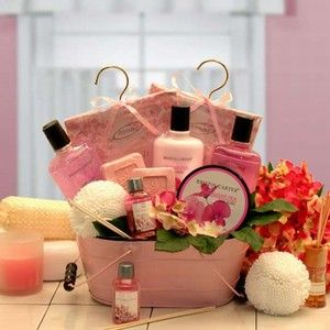 Pretty in Pink Aromatherapy Gift Basket $48.99