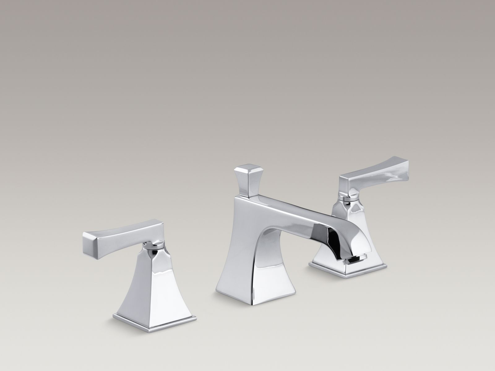 Kohler K 454 4v Cp Memoirs Stately Widespread Bathroom Sink Faucet With Deco Lever Handles Polished Chrome