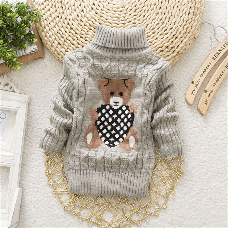 Baby Girls Sweaters Winter Knitted Clothes Kids Autumn Cartoon Owl Sweater