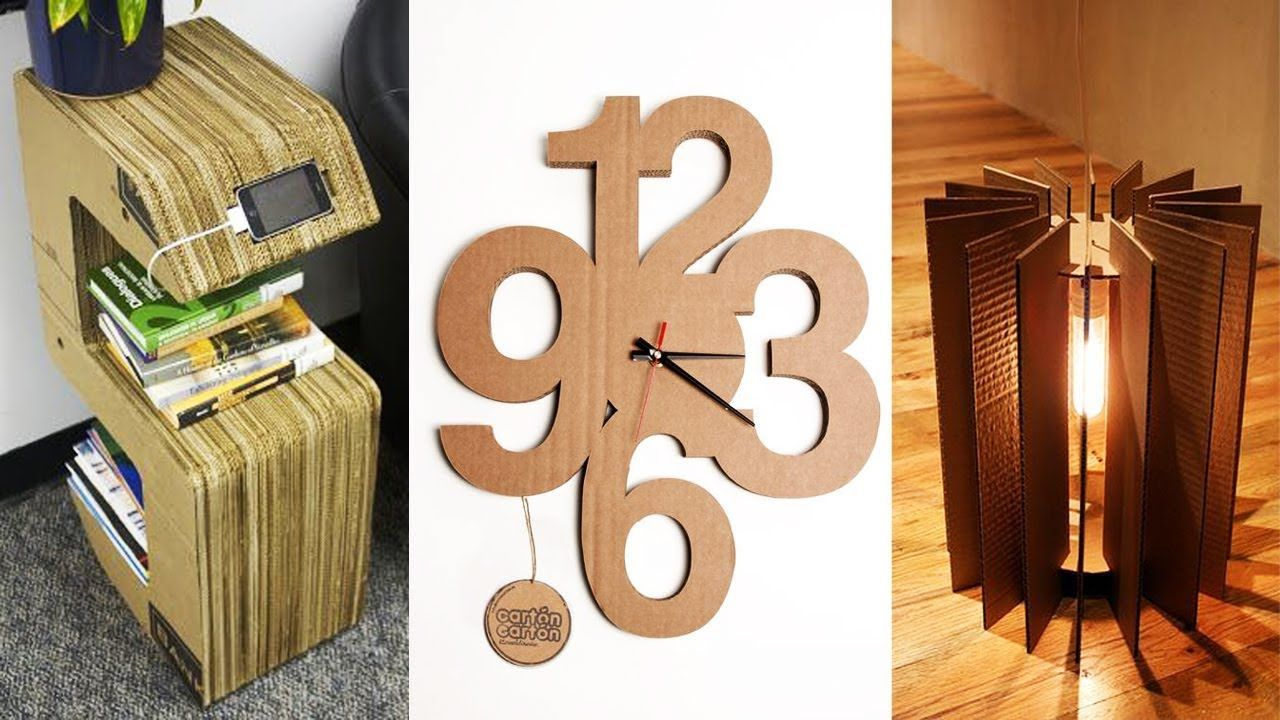 DIY ROOM DECOR! 16 Easy Craft Ideas Cardboard for Teenagers. Home
