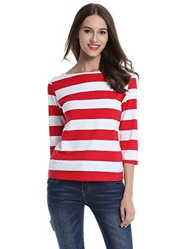 MsBasic Women's 3/4 Sleeve Boat Neck Striped Relax Fit Te... https://www.amazon.com/dp/B01HNI2ZPE/ref=cm_sw_r_pi_dp_x_W-sSyb96RNGCH
