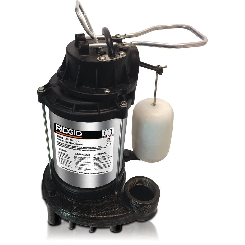 Ridgid 1 Hp Stainless Steel Dual Suction Sump Pump 1000rsds Sump