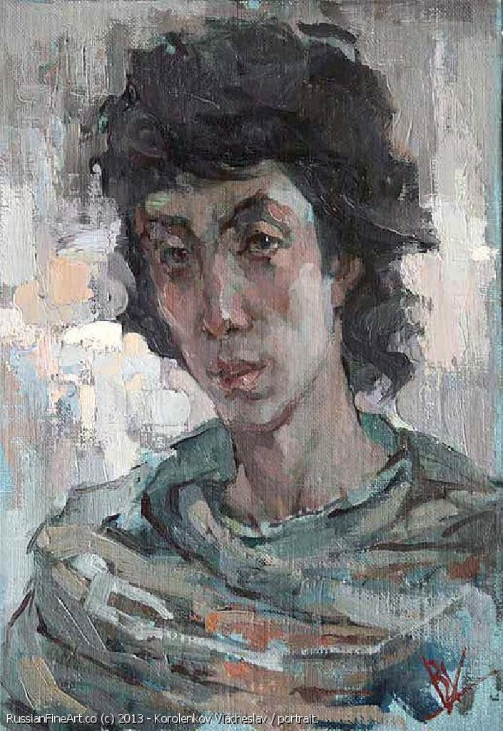 """Student's Portrait"" - oil, canvas http://www.russianfineart.co/catalog/prod.php?productid=18922 Artist: Korolenkov Viacheslav"