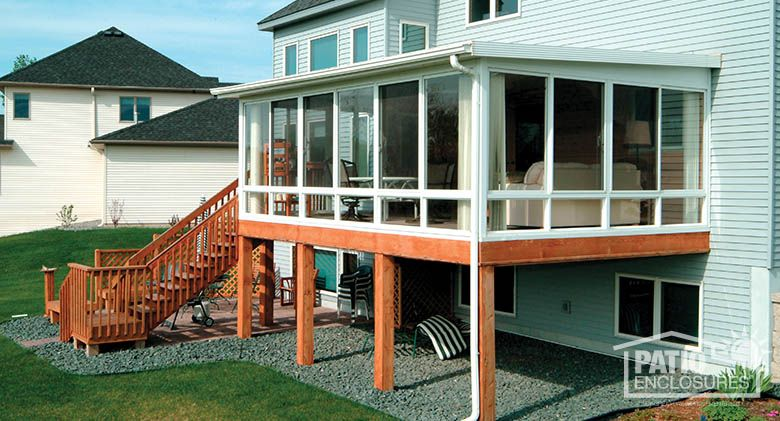 Lovely Sunroom On Existing Deck