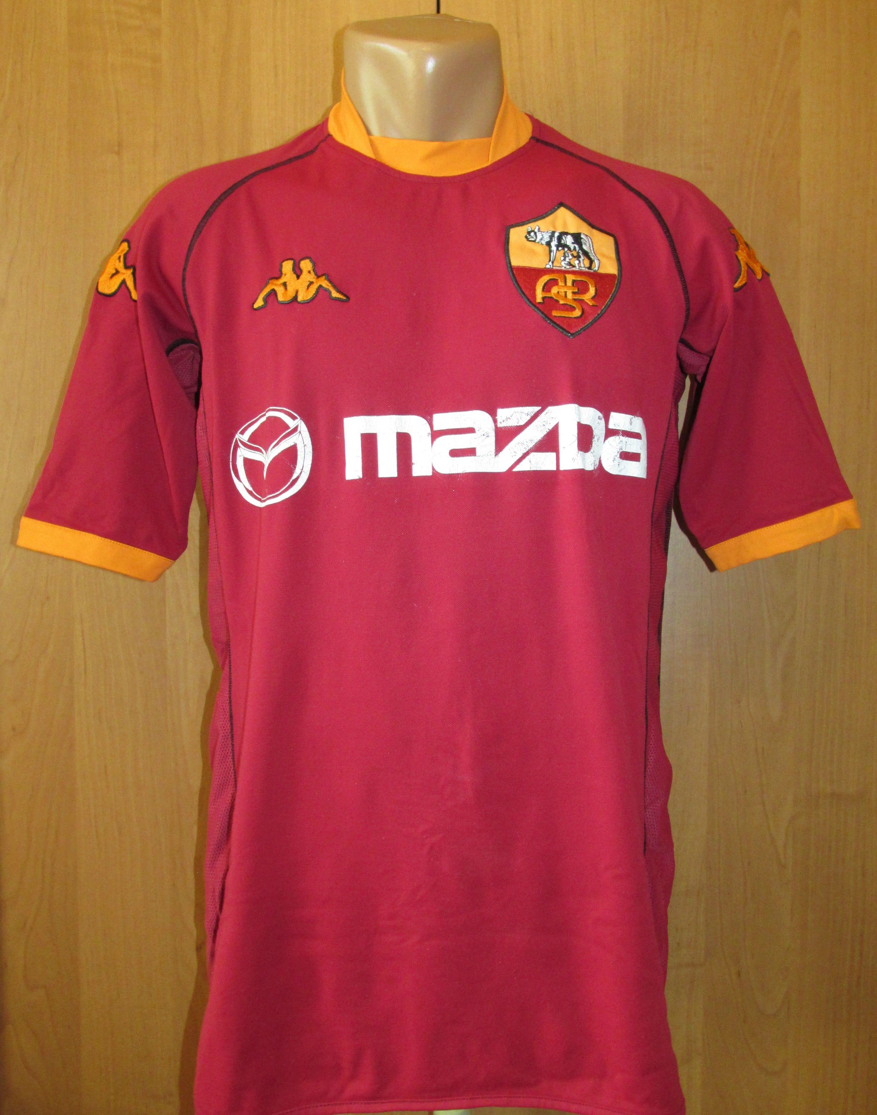 88488a35b AS Roma 2002 2003 home football shirt by Kappa Italy Italia Mazda ASR  calcio jersey soccer Giallorossi Rome  Roma  ASRoma  Rome  calcio  kappa   italy ...