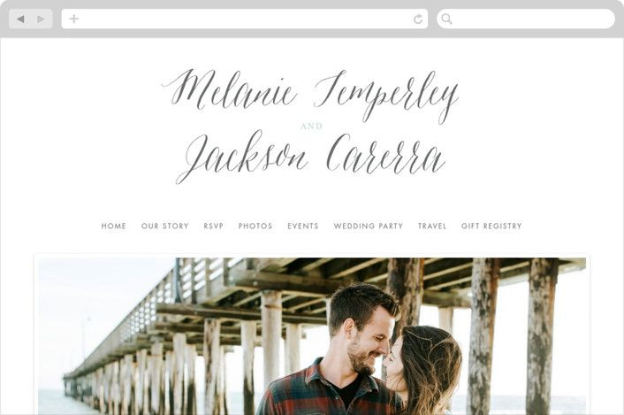 """Heartbeat"""" Modern Wedding Websites in Petal by Sarah Curry"""