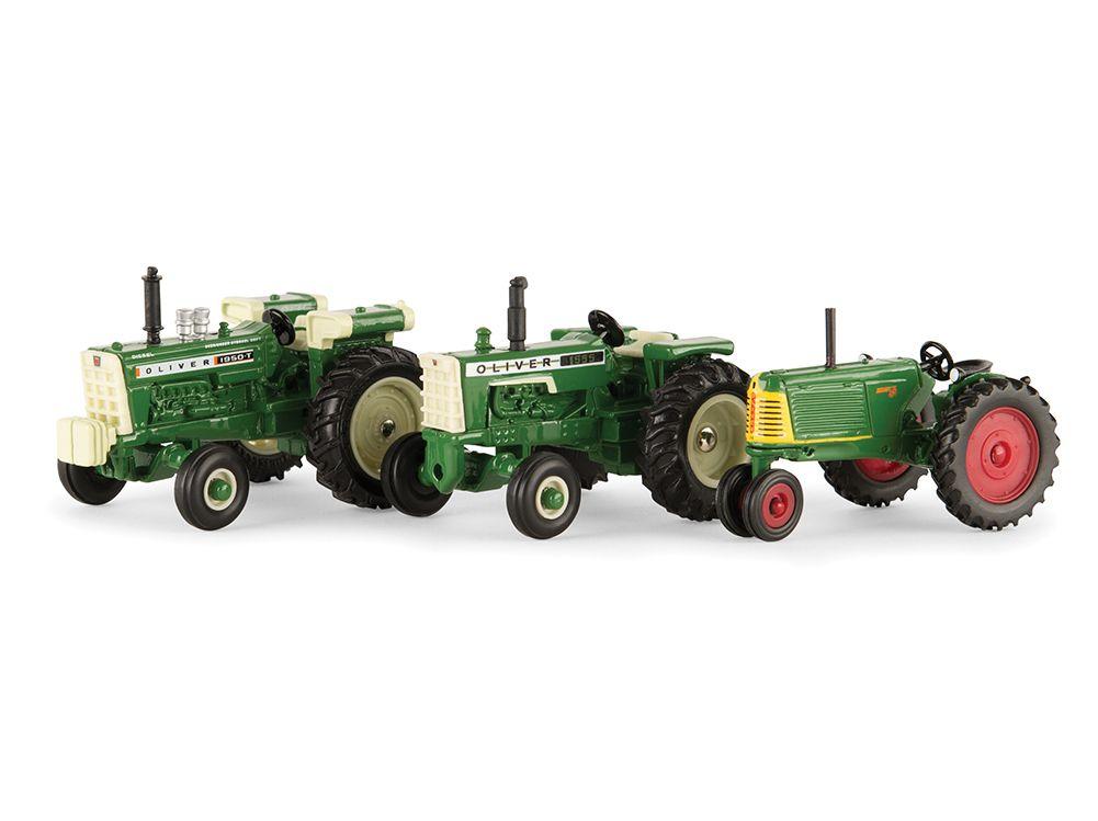 Metal Toy Tractors >> Oliver Vintage Set Historical Oliver Toy Tractor Set Farm