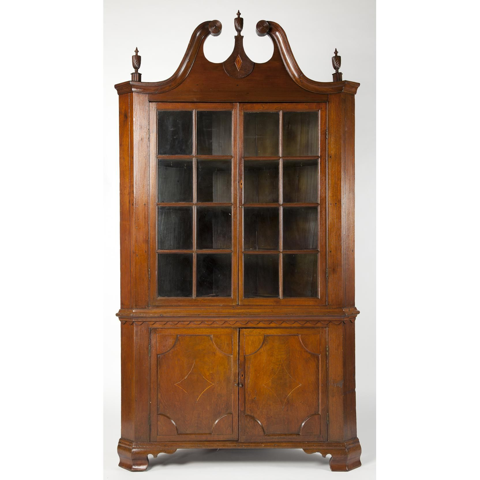 New Antique Corner China Cabinet