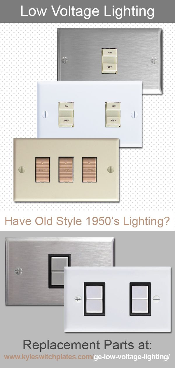 Get new parts for discontinued Bryant and GE Low Voltage Lighting switches and cover plates found & Get new parts for discontinued Bryant and GE Low Voltage Lighting ...