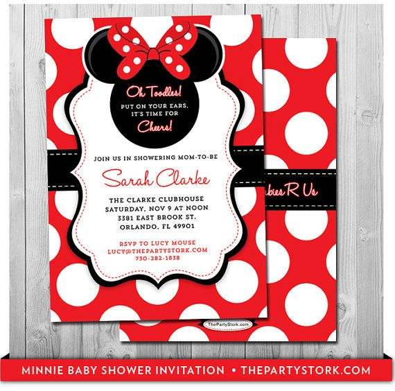 Minnie mouse baby shower invitation printable baby shower invite minnie mouse baby shower invitation printable baby shower invite red black white polkadots more invitations and decorations available minnie mouse filmwisefo
