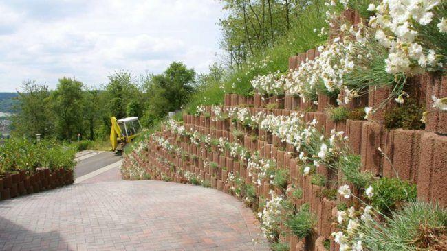 Pflanzringe beton setzen gartengestaltung st tzmauer hang for Pflanzringe setzen