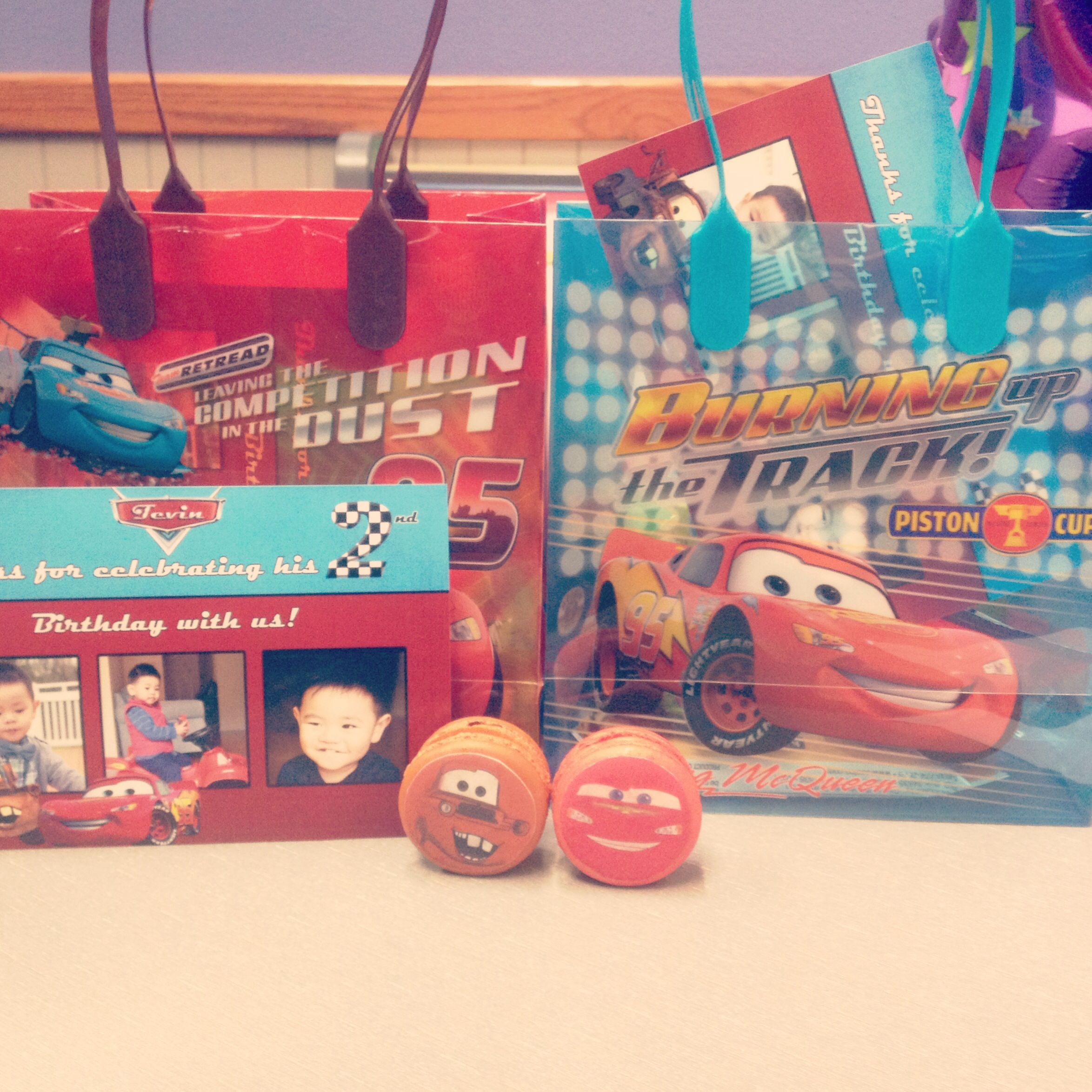 Cars Macarons And Goodie Bags