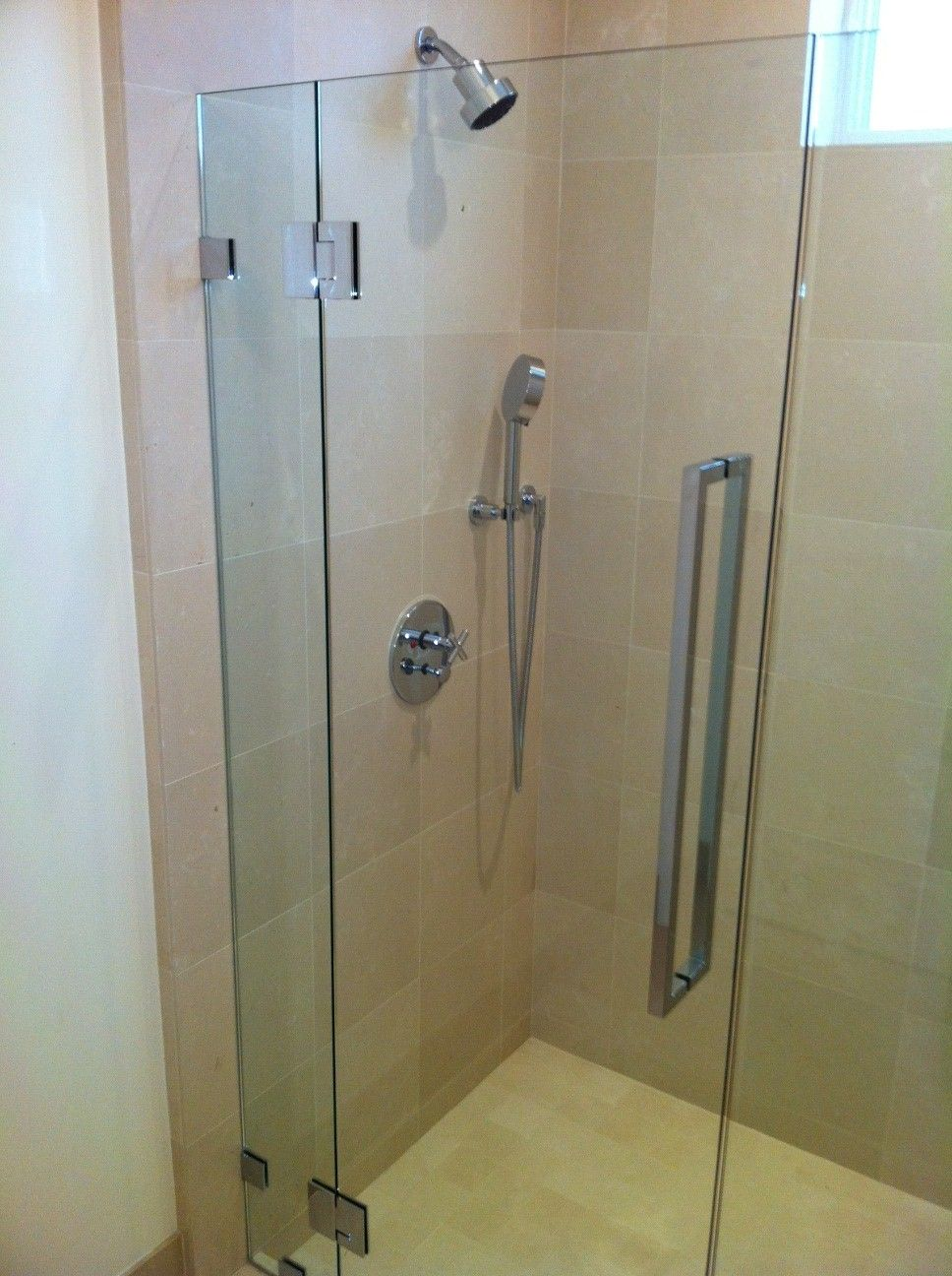 Custom Designed Frameless Shower Door By Old Town Glass Features