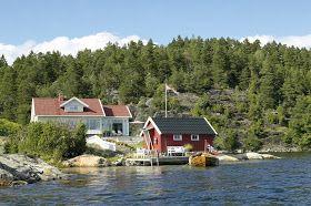 Casa No Litoral Da Noruega Hytte Trehytte Og Hus