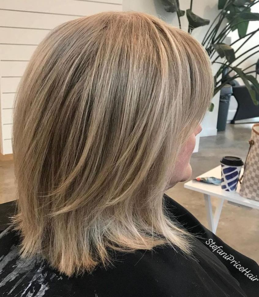 Medium Layered Haircut For Thick Straight Hair In 2020 Haircut For Thick Hair Straight Hairstyles Above Shoulder Length Hair