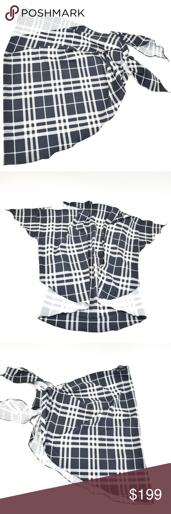 "BURBERRY London Blue, ""Nova Check"" Swim CoverUp nu pre"
