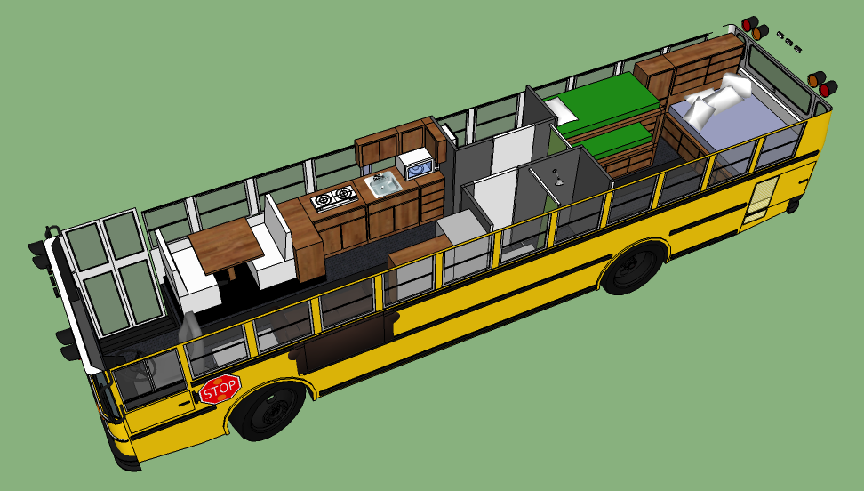 17 Best 1000 images about Skoolie RV sample floor plans School bus
