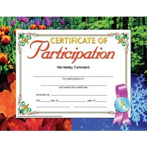 Certificate Of Participation Va633 Pack Of 30 8 5 Quot X