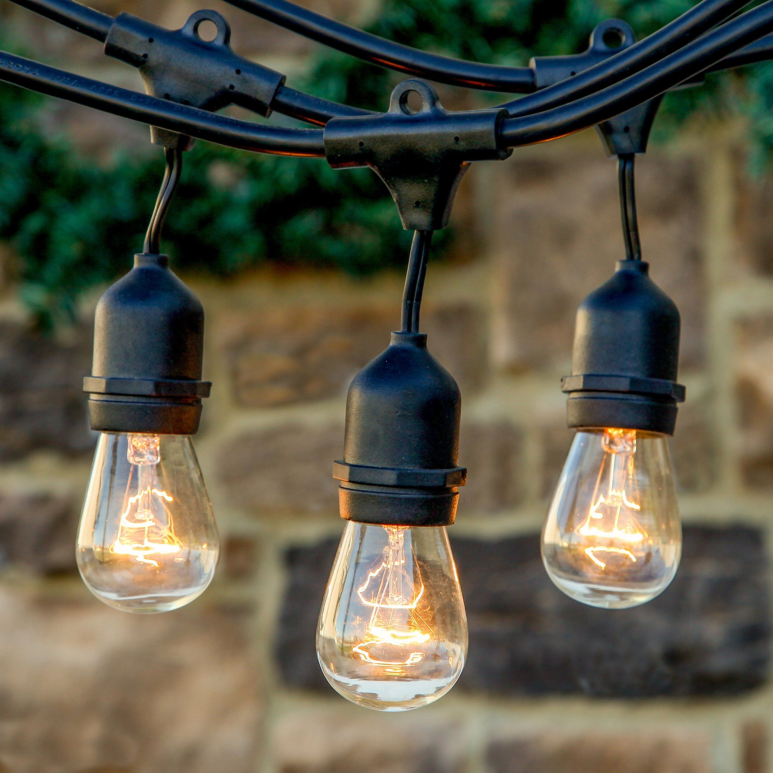 20 stunning rustic edison bulbs wedding decor ideas - Decorating with string lights indoors ...