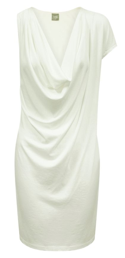 Bobi Sleeveless Drape Dress - Boutique Mix