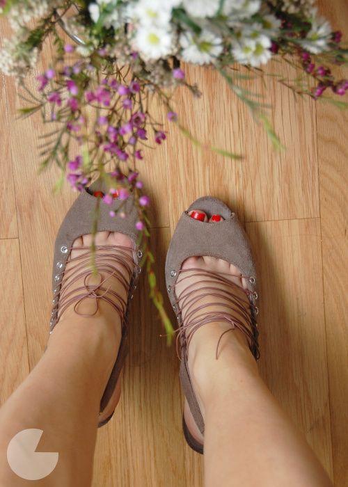 DIY lace up shoes