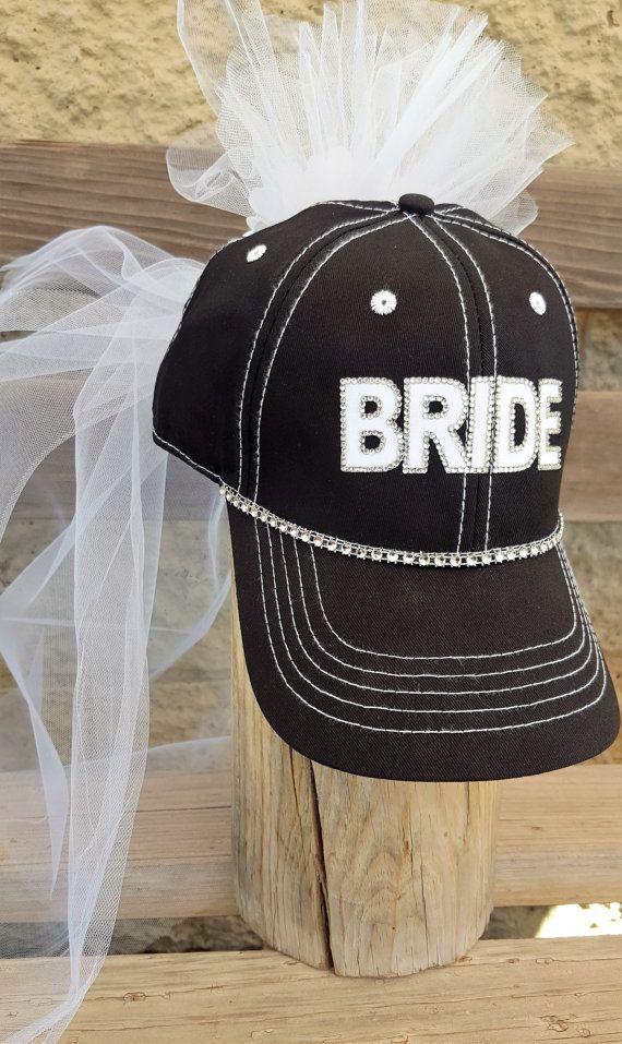 Bride Baseball Hat Bridal Hat With Veil Bachelorette Party Etsy Bachelorette Party Hat Bachelorette Party Veils Team Bride Hats