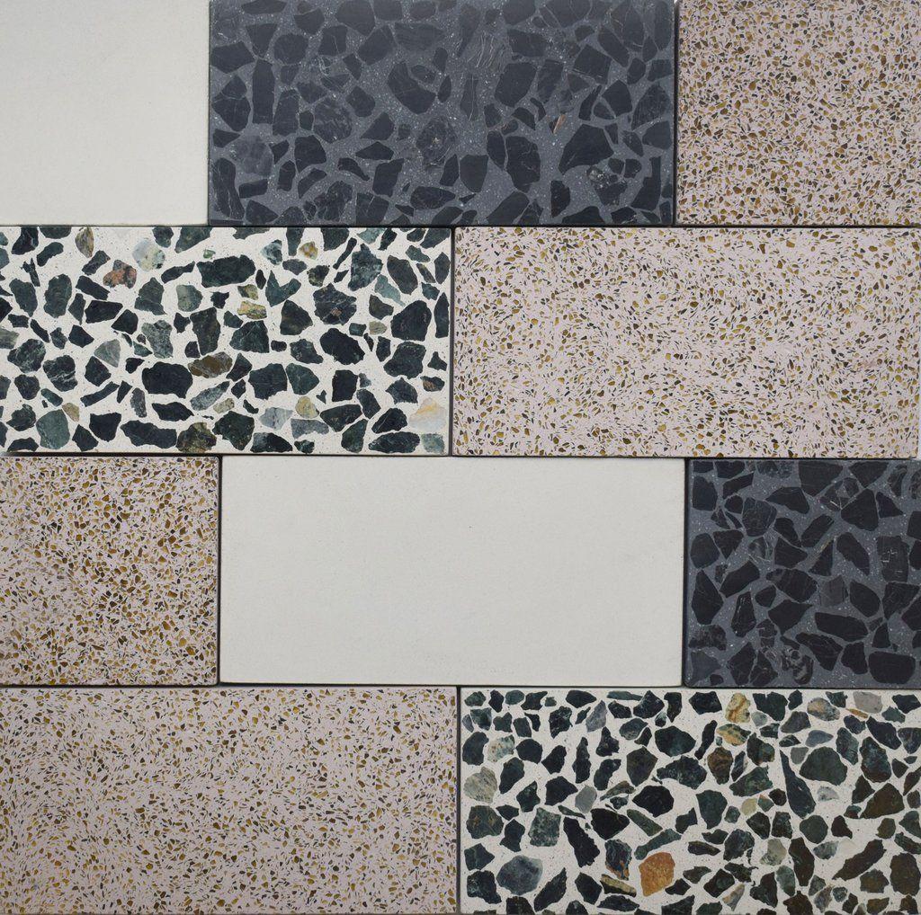Nougat Rectangle Terrazzo Tile Sample Tiles