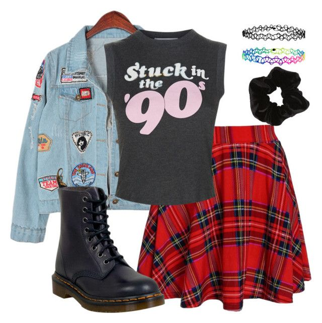 """90s"" by divinitimarie ❤ liked on Polyvore featuring Chicnova Fashion, Wildfox, Dr. Martens, Accessorize, casual, grunge, 90s and retro"