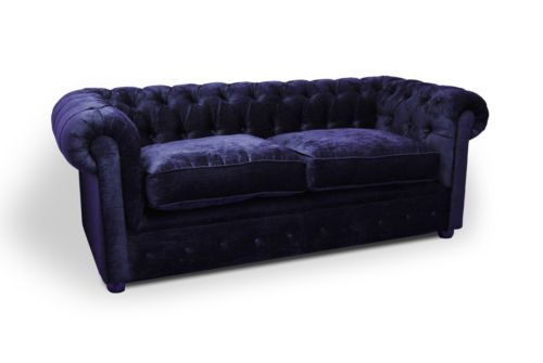 Modern Modern Handmade Navy Blue Velvet 3 Seater Chesterfield Sofa Couch Suite Modern - Cool Green Chesterfield sofa Pictures
