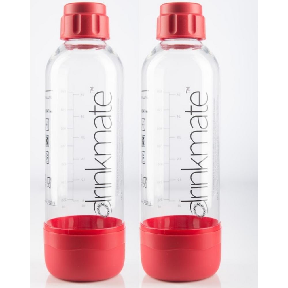2 Pack Drinkmate 002-02-2X Carbonation Bottles Black 0.5 Liter