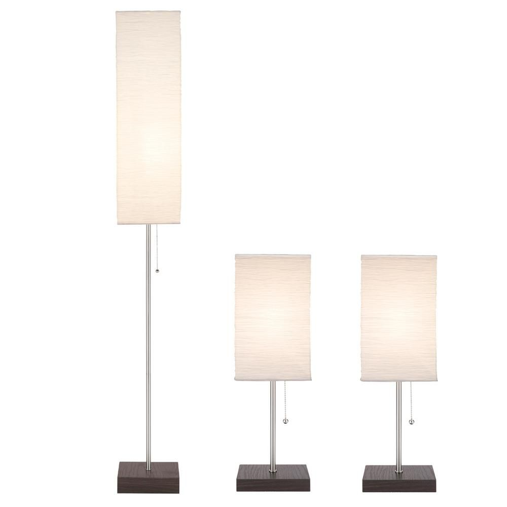 Elegant Floor Lamps with Paper Shades