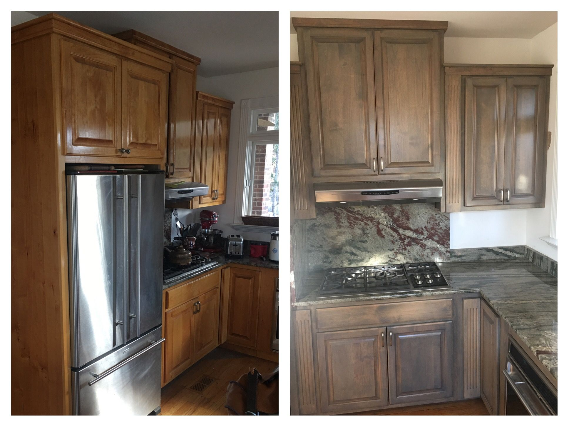 Classic Gray Stain Brings Out The Best Of These Well Built Alderwood Cabinets Stained Kitchen Cabinets Kitchen Cabinet Door Styles Primer For Kitchen Cabinets