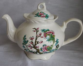 Vintage Arthur Wood Teapot Indian Tree design