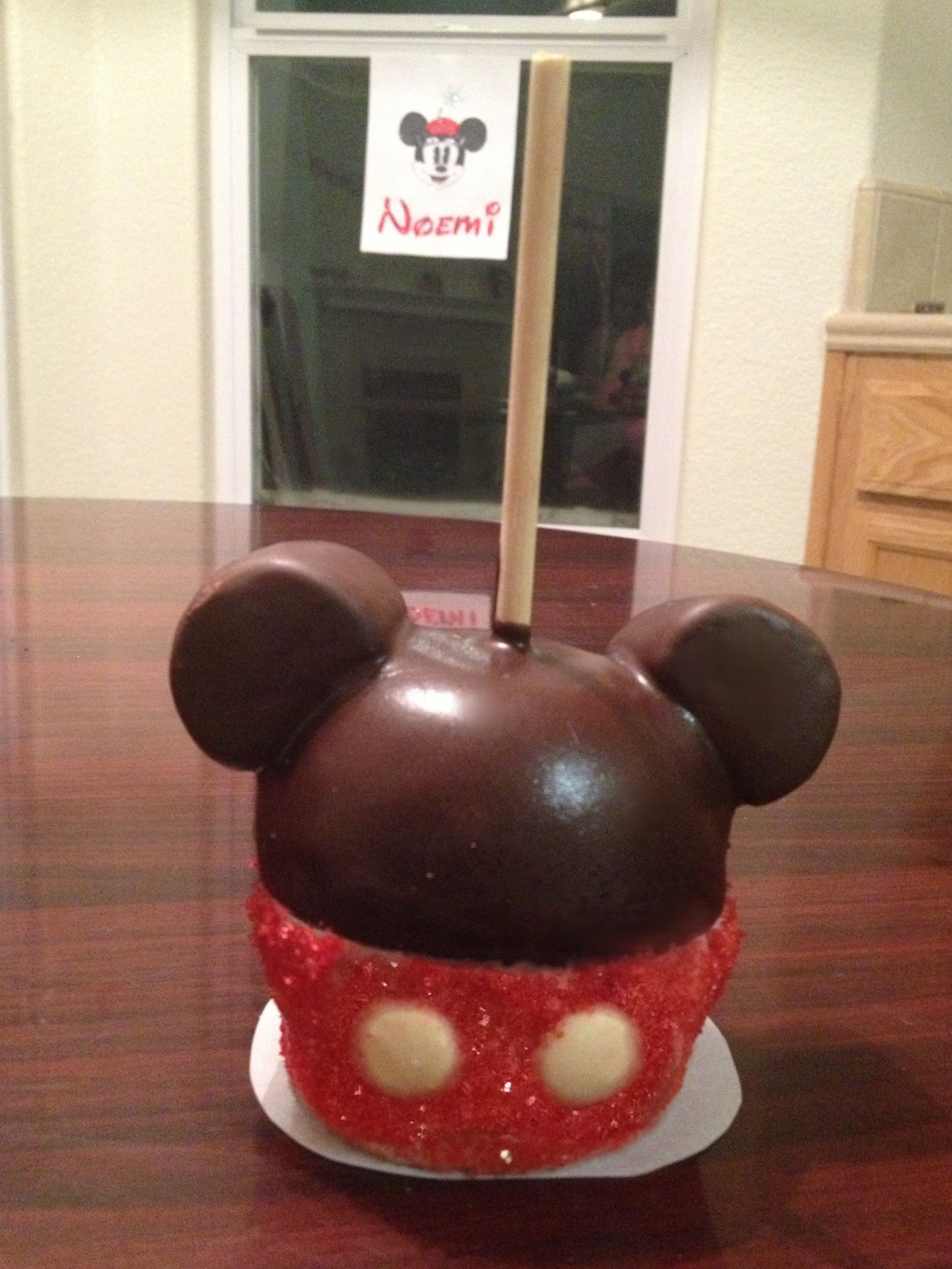 Mickey Mouse Caramel Chocolate Apples