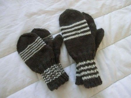 Mittens for sister and brother