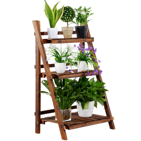 Patio Garden Wooden Plant Stands Wooden Flowers Wood Plant Stand