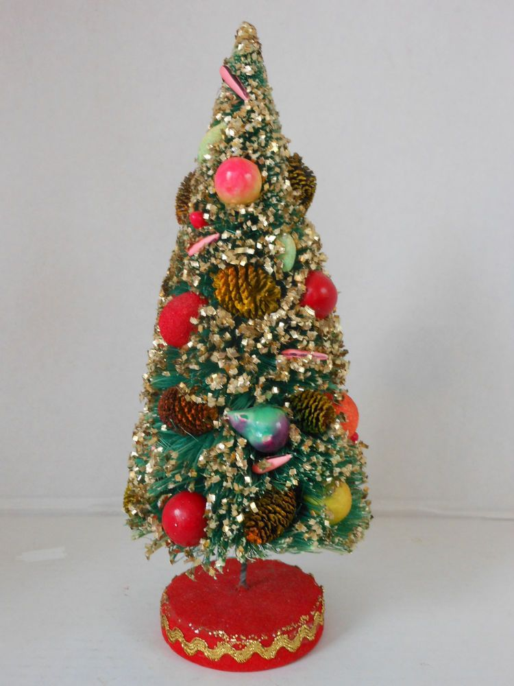 Japanese Christmas Tree Ornaments.Pin On Vintage Bottle Brush Trees Wreathes