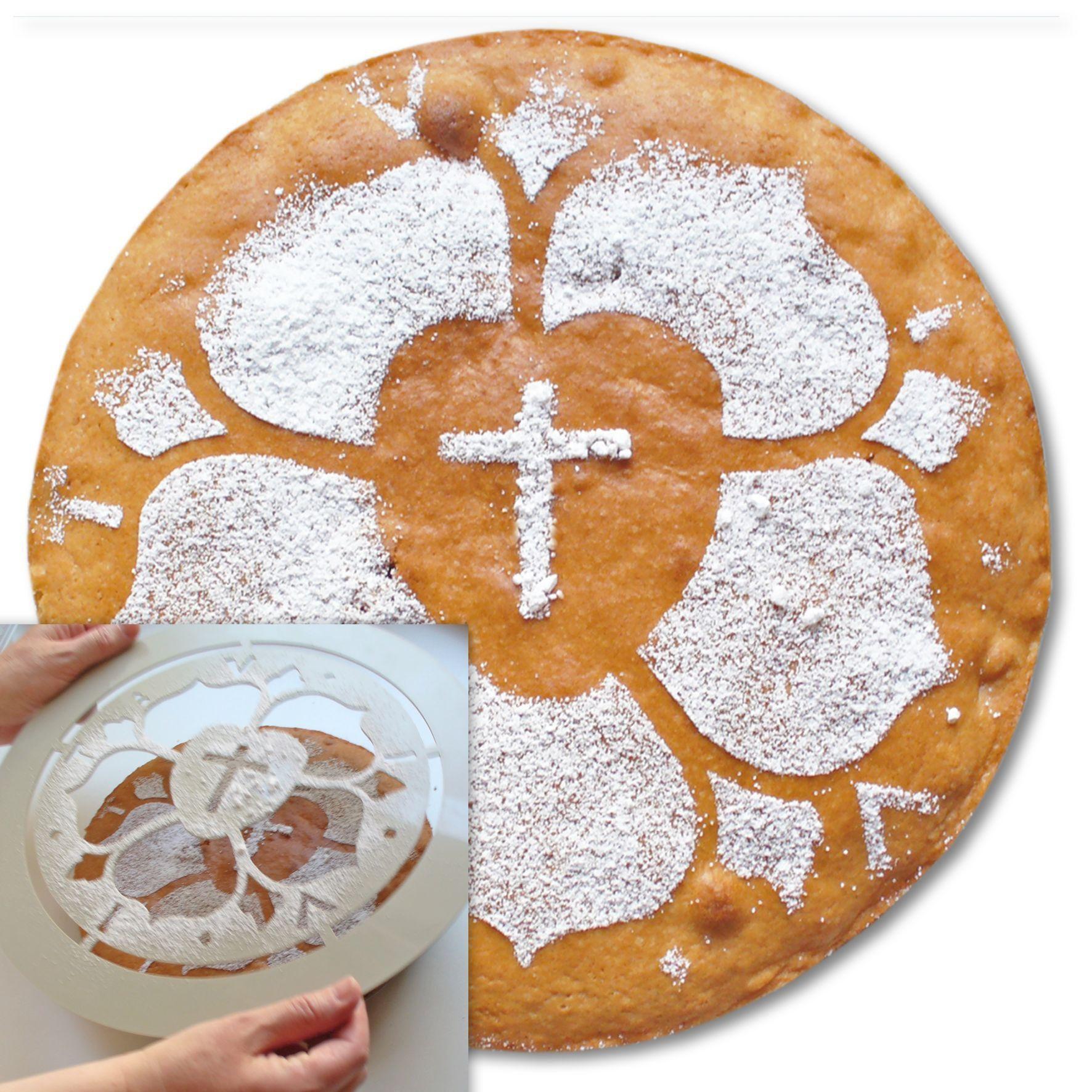Als Geschenk oder beim Gemeindefest ein absoluter Hingucker Der Luther Kuchen Aus weißem Kunststoff Außendurchmesser 330 mm Motivdurchmesser 260 mm