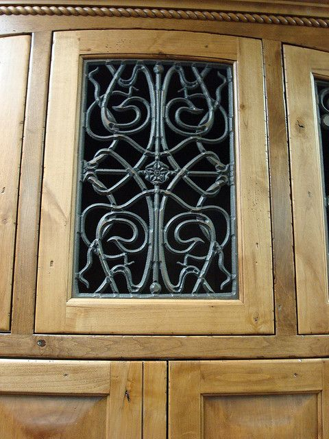 Faux Wrought Iron Cabinet Door Insert With Images Faux Iron