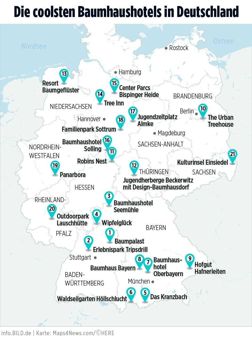 Das Sind Die 24 Schonsten Baumhaushotels In Deutschland Urlaub