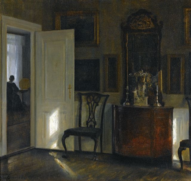A Painting By Carl Holsoe (19th Century Danish Painter